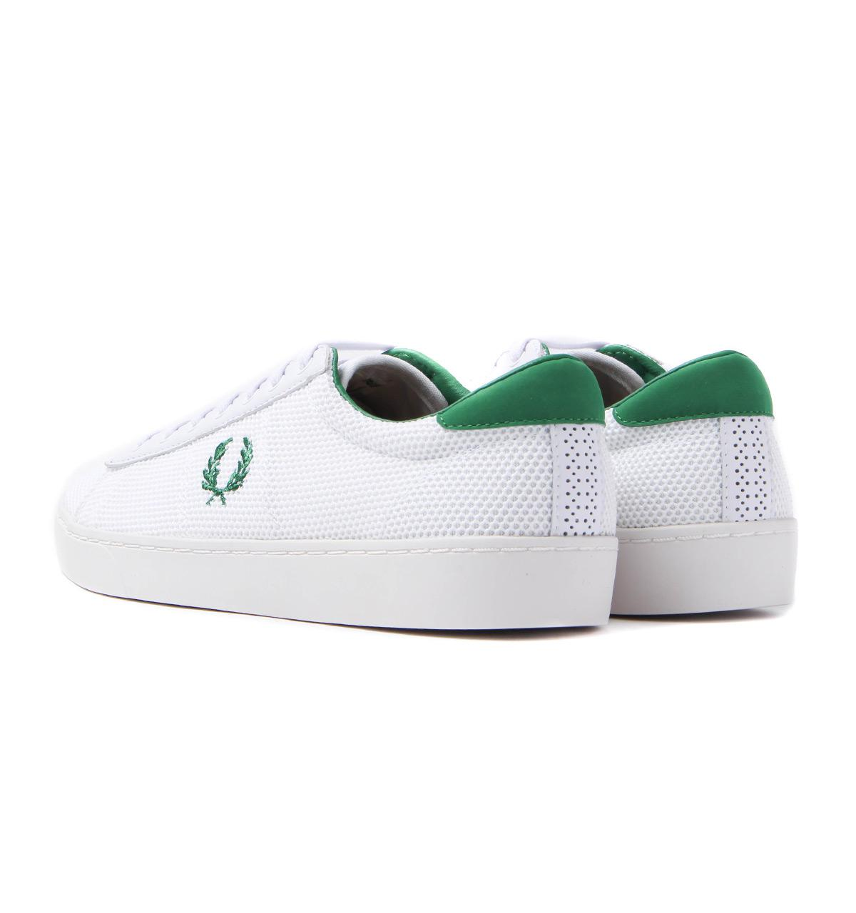 Fred Perry Leather Spencer Mesh White