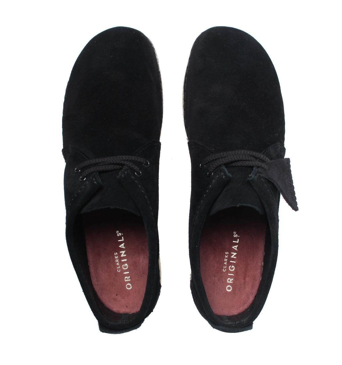 Clarks Ashton Black Suede Shoes for Men
