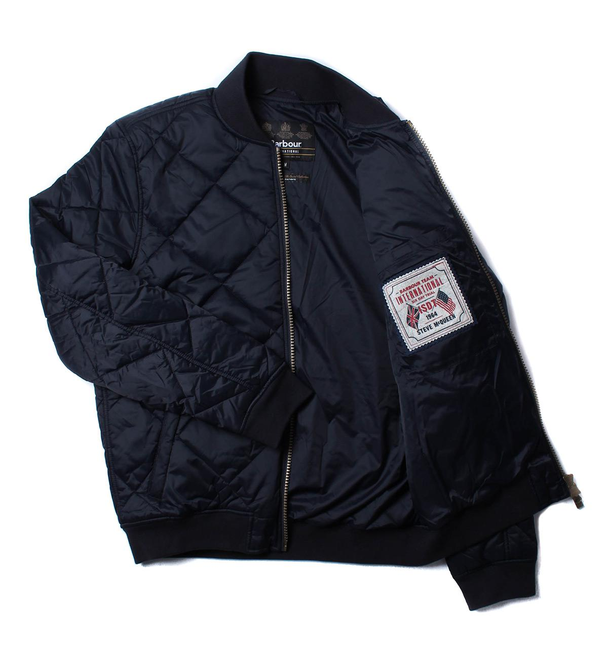 Lyst Barbour Steve Mcqueen Quilted Bomber Jacket In Blue