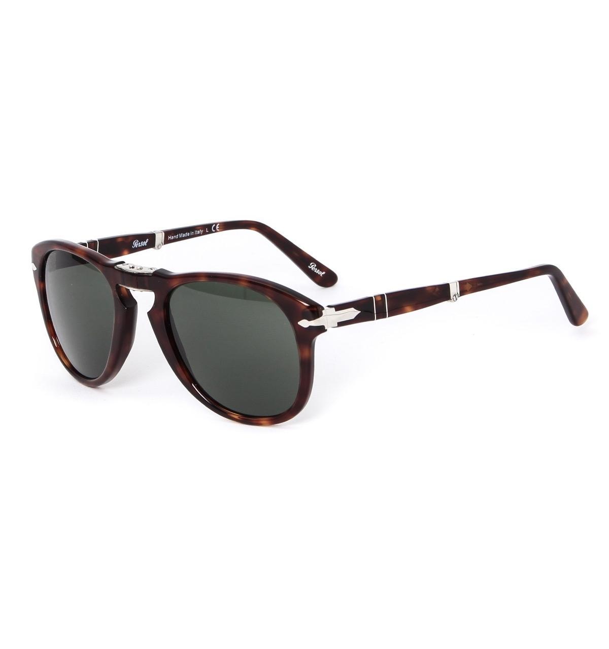 3bebcf6430 Persol - 714 Havana Brown Acetate Folding Aviator Sunglasses for Men - Lyst.  View fullscreen