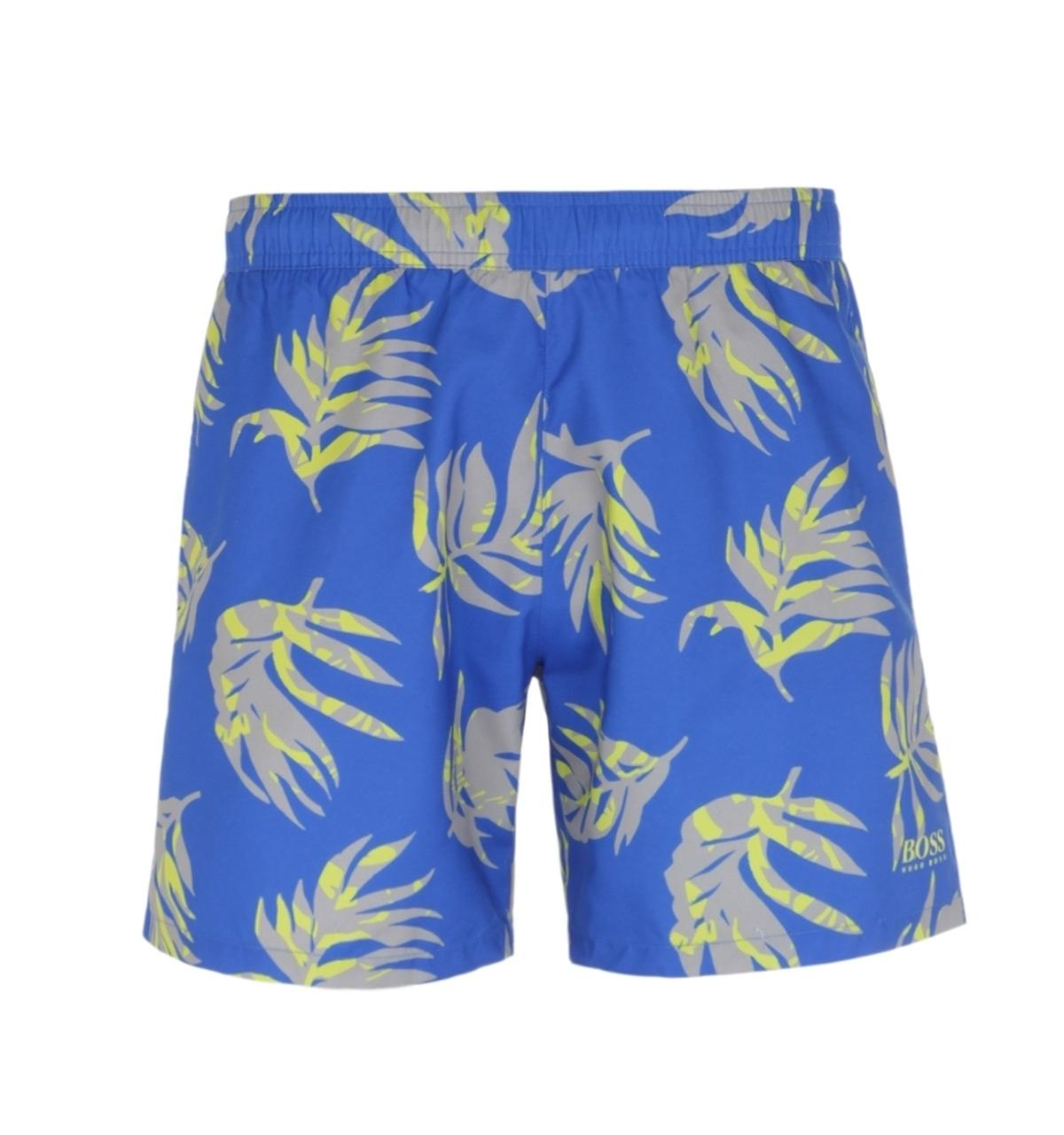 JERECY Mens Swim Trunks Dolphin Anchor Pattern Quick Dry Board Shorts with Drawstring and Pockets