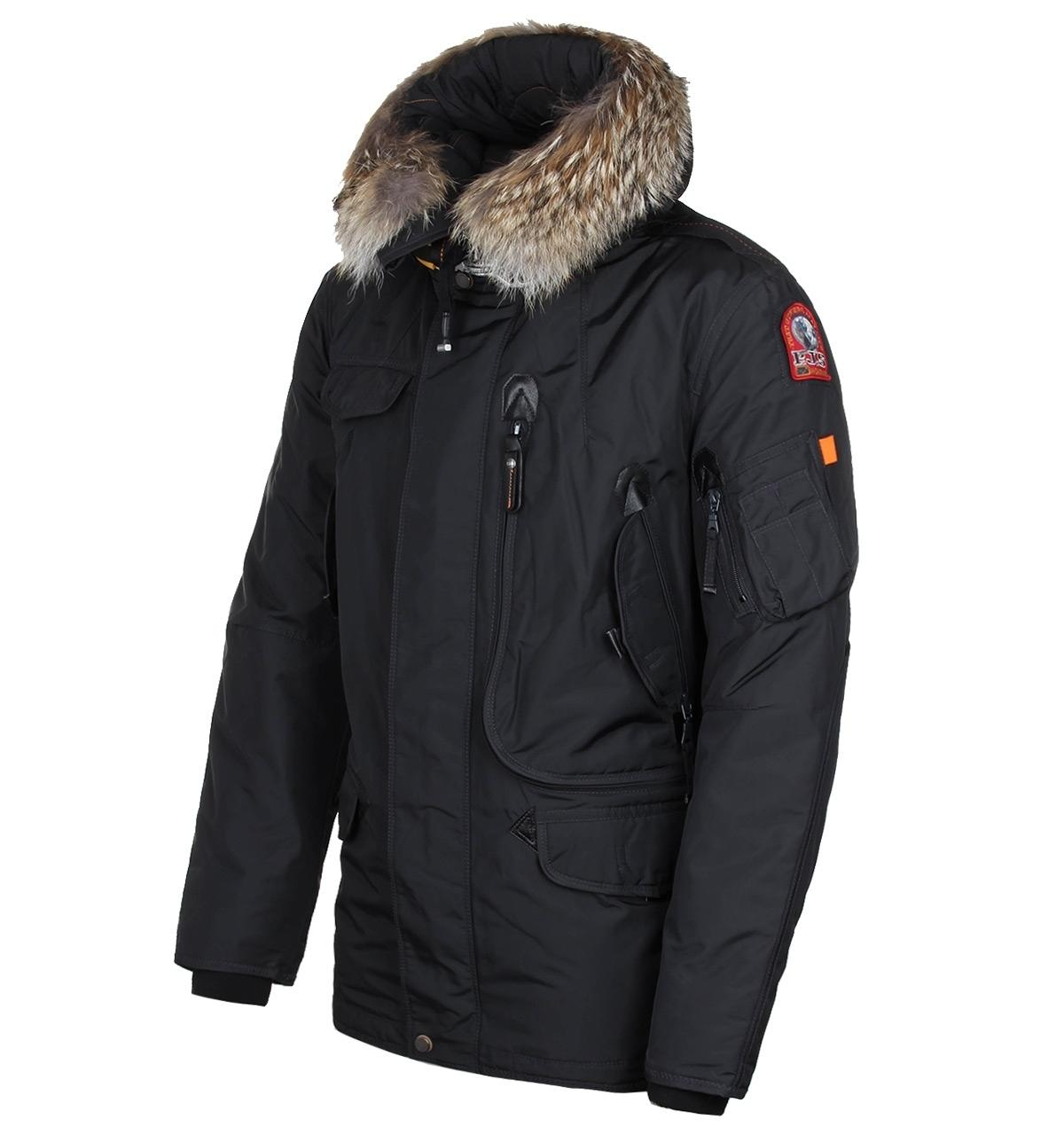 ... lyst parajumpers anthracite right hand parka for men
