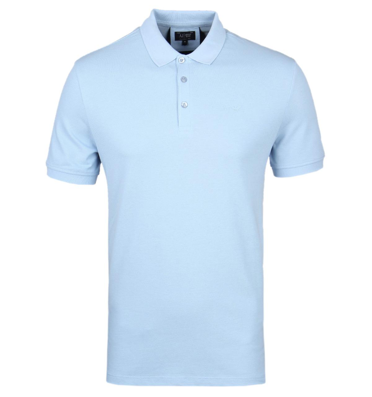Lyst armani jeans sky blue pique polo shirt in blue for men for Polo shirt and jeans