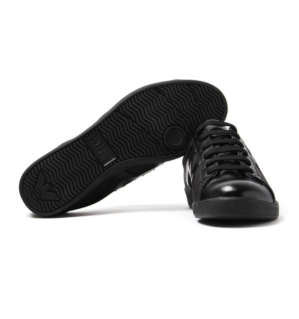 87017253 Armani Jeans Cupsole Black Mesh Trainers for men