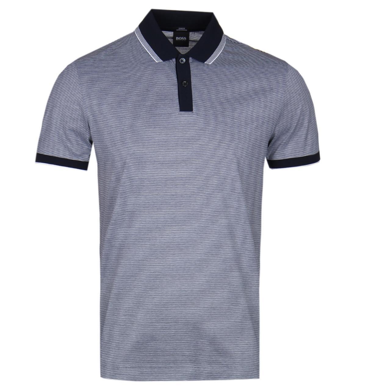 661d981fe BOSS by Hugo Boss. Men's Blue Boss Phillipson32 Slim Fit Navy Polo Shirt