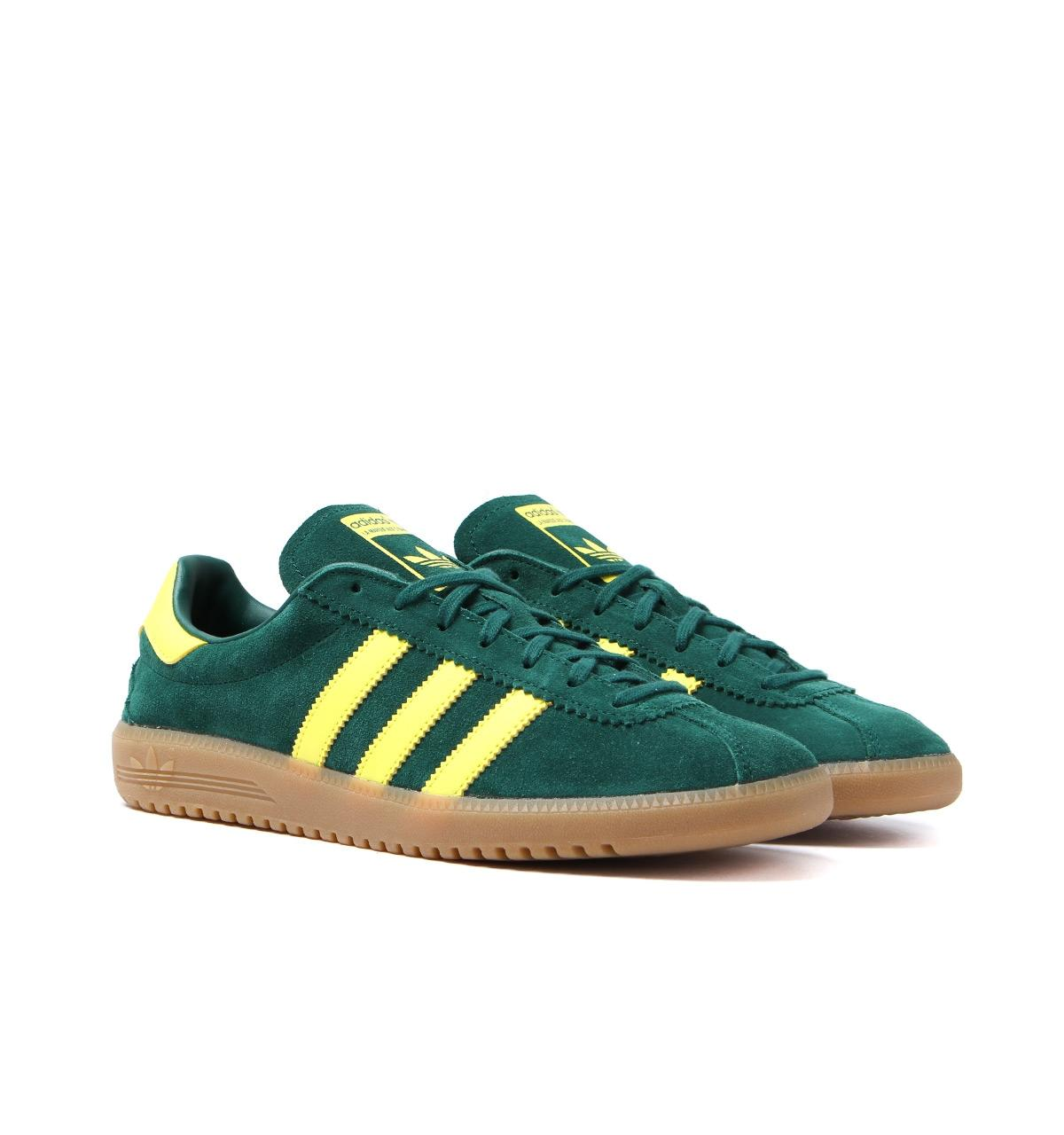 Adidas Originals Bermuda Collegiate Green   Shock Yellow Trainers in ... 0d6fd8fe4