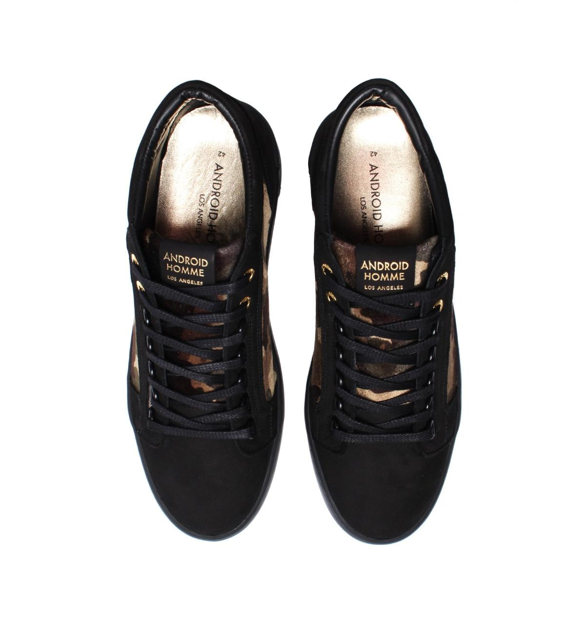 5c31e37e6137 Lyst - Android Homme Propulsion Mid Camo Black Suede Trainers in ...