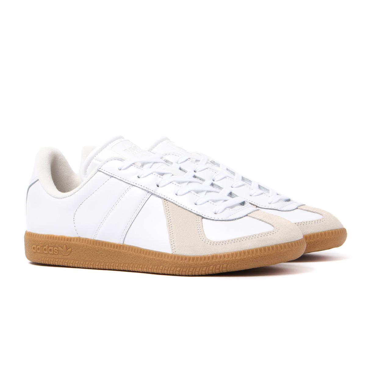 Bw Army White Leather Vintage Trainers