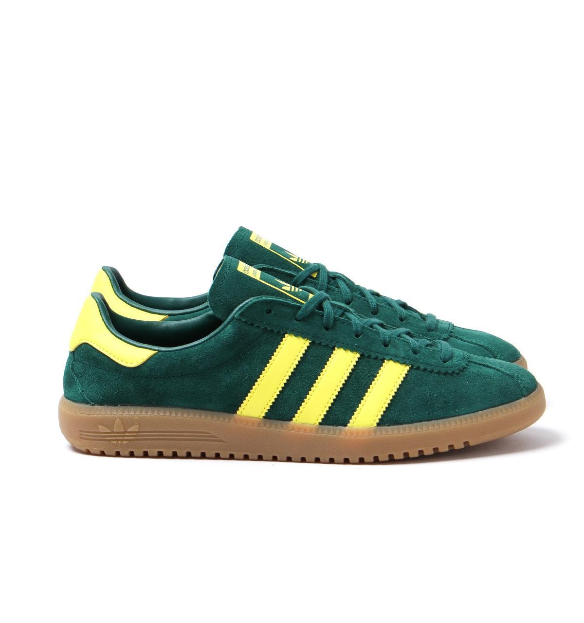 Adidas Originals - Bermuda Collegiate Green   Shock Yellow Trainers for Men  - Lyst. View fullscreen cd1ada5b2