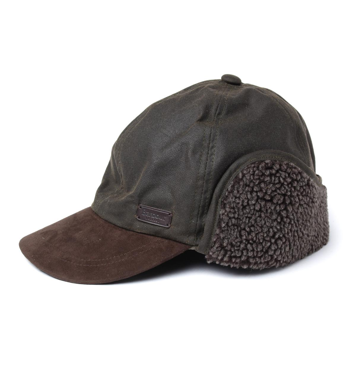 Barbour Cotton Olive Astwell Trapper Hat In Green For Men
