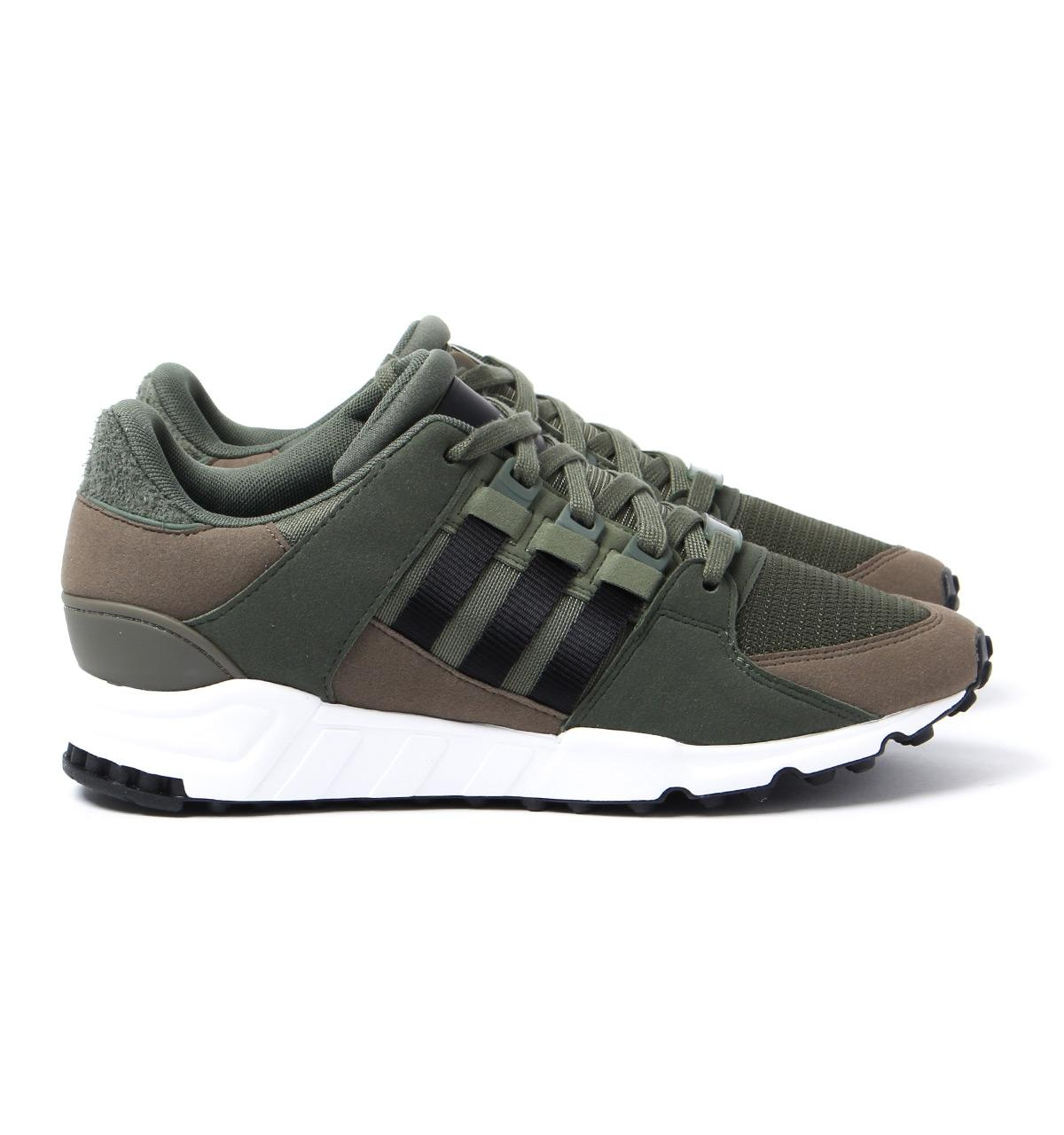 adidas Originals Rubber Eqt Support Rf Army Green Mesh Trainers for Men