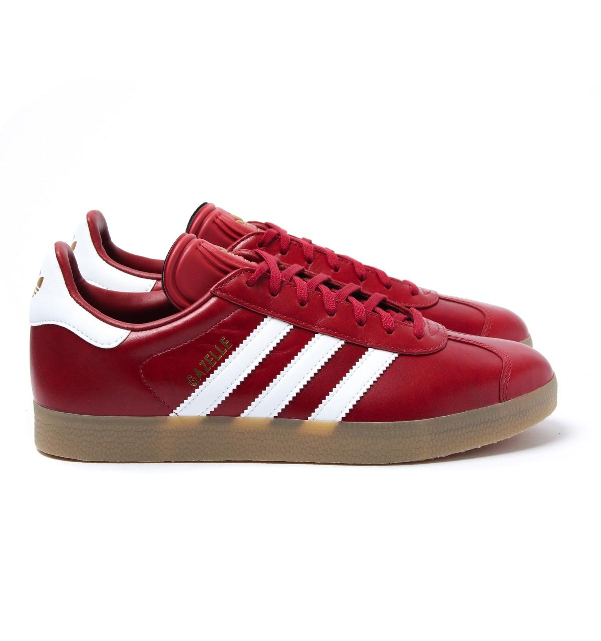 Mystery Red Leather Gazelle Trainers
