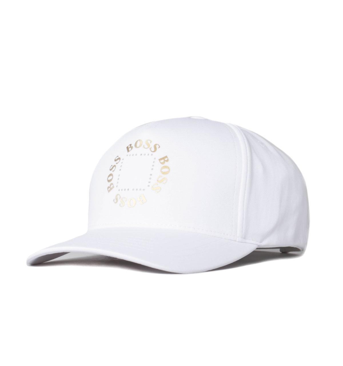 HUGO BOSS WHITE CIRCLE CAP