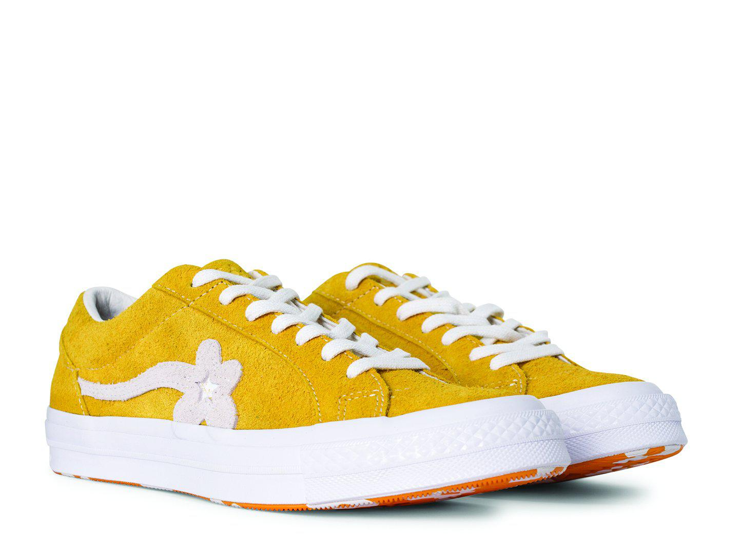 Converse Suede One Star X Golf Le Fleur In Yellow For Men Lyst