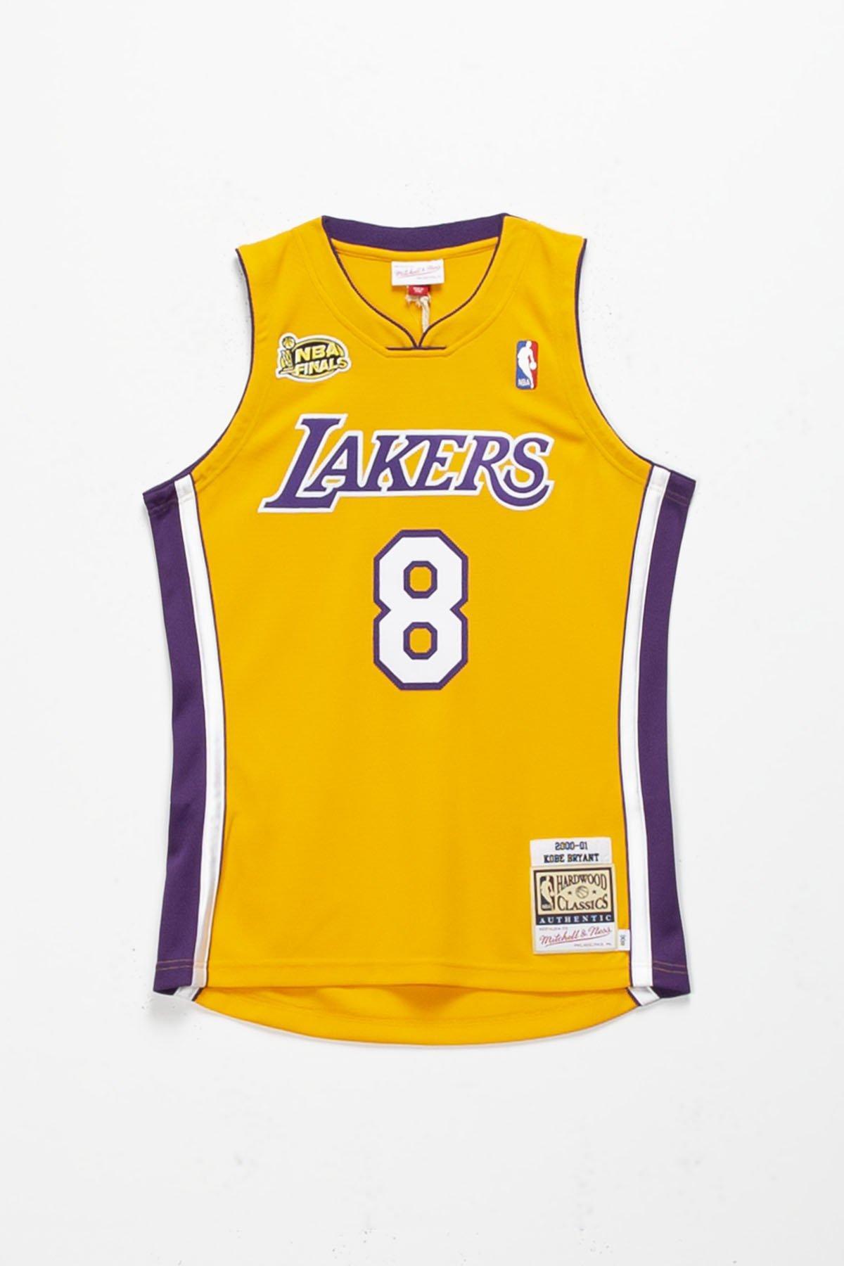 Mitchell & Ness Kobe Bryant '00-'01 La Lakers Authentic Home ...