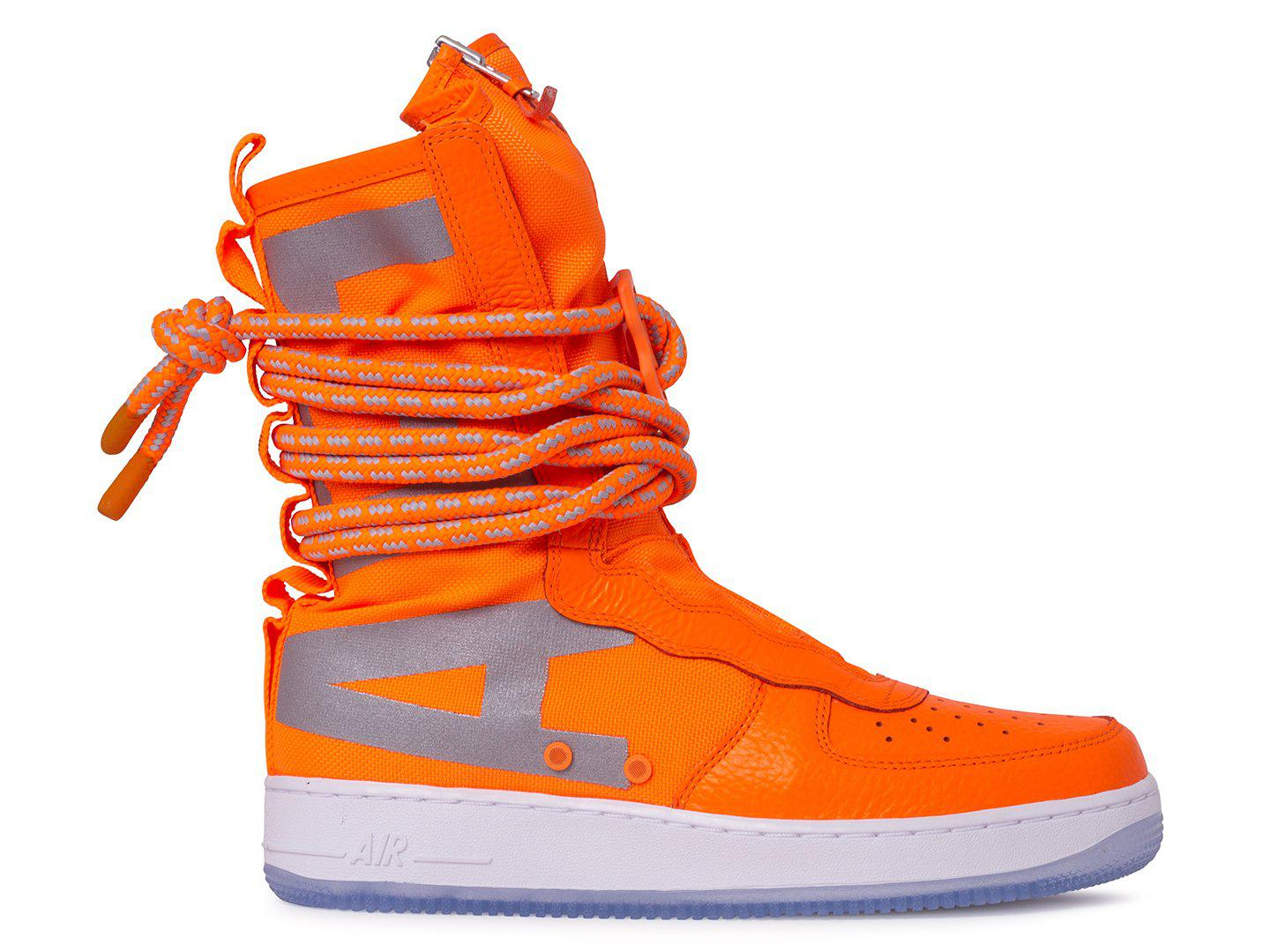 size 40 cac40 9ffb4 ... low price lyst nike special field air force 1 hi boots in orange 8bfa1  35775