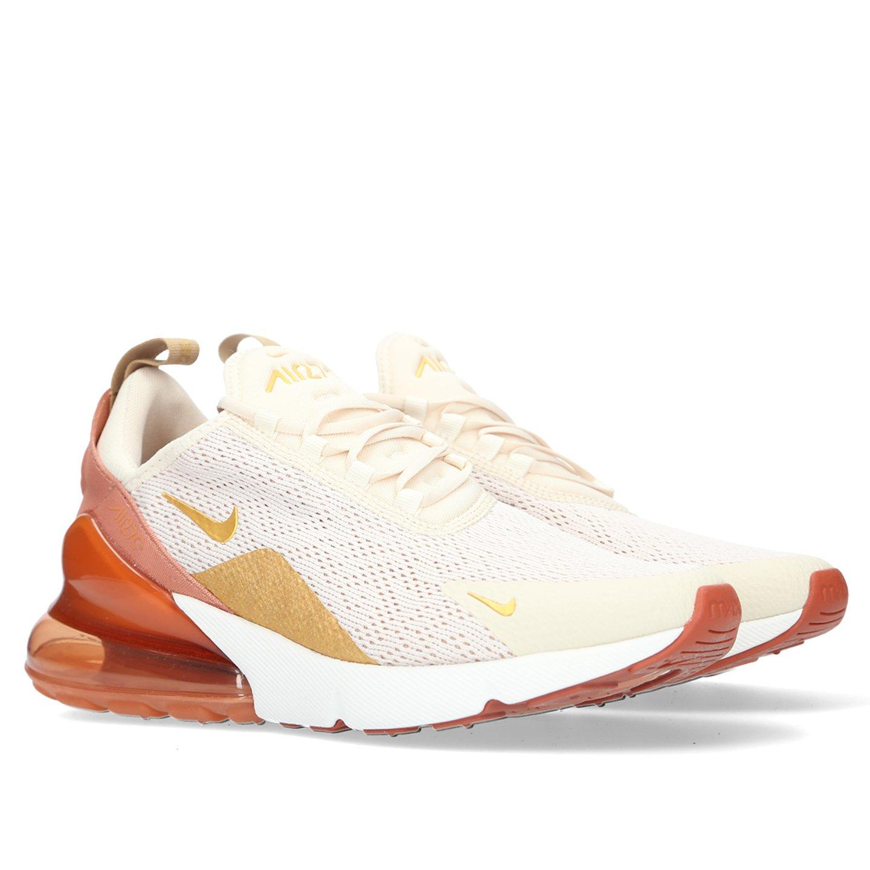 Nike Shoes Womens Air Max 270 Light Cream Metallic Gold