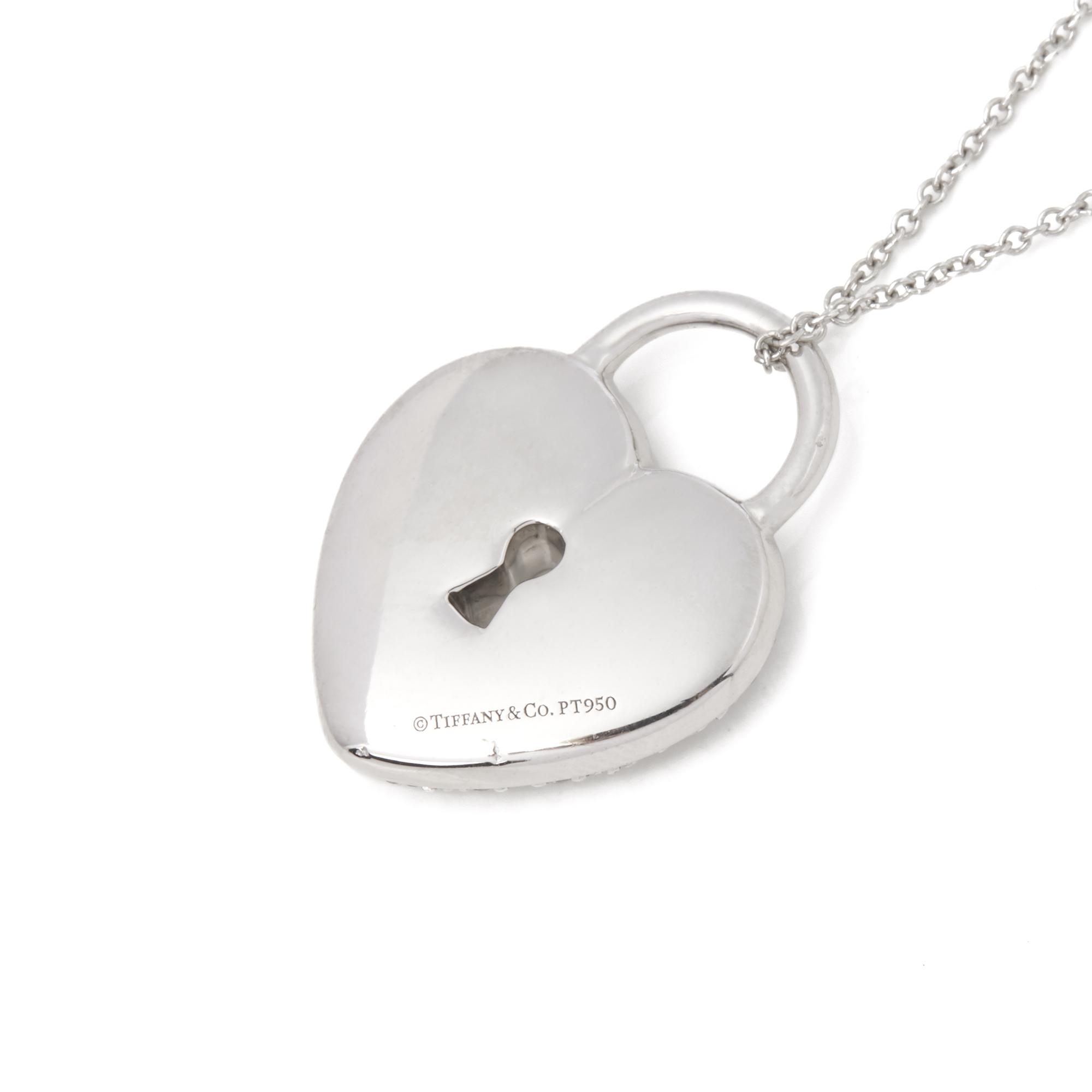 Tiffany Co Platinum Diamond Heart Tiffany Key Pendant Necklace In Metallic Lyst