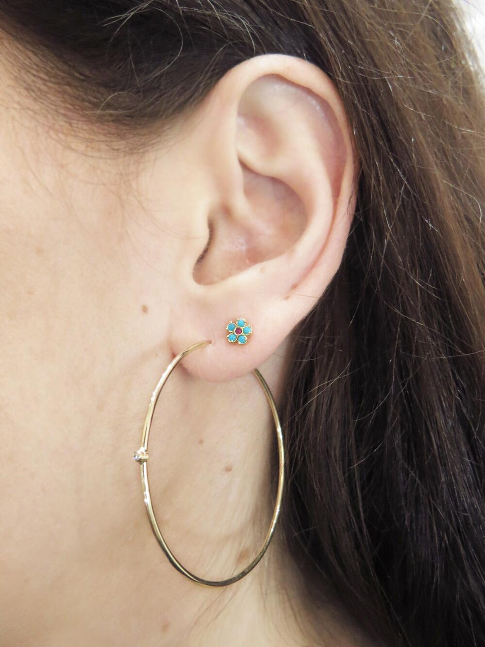 ac9b1e8d20d66 Jennifer Meyer Metallic Medium Diamond Hoop Earrings