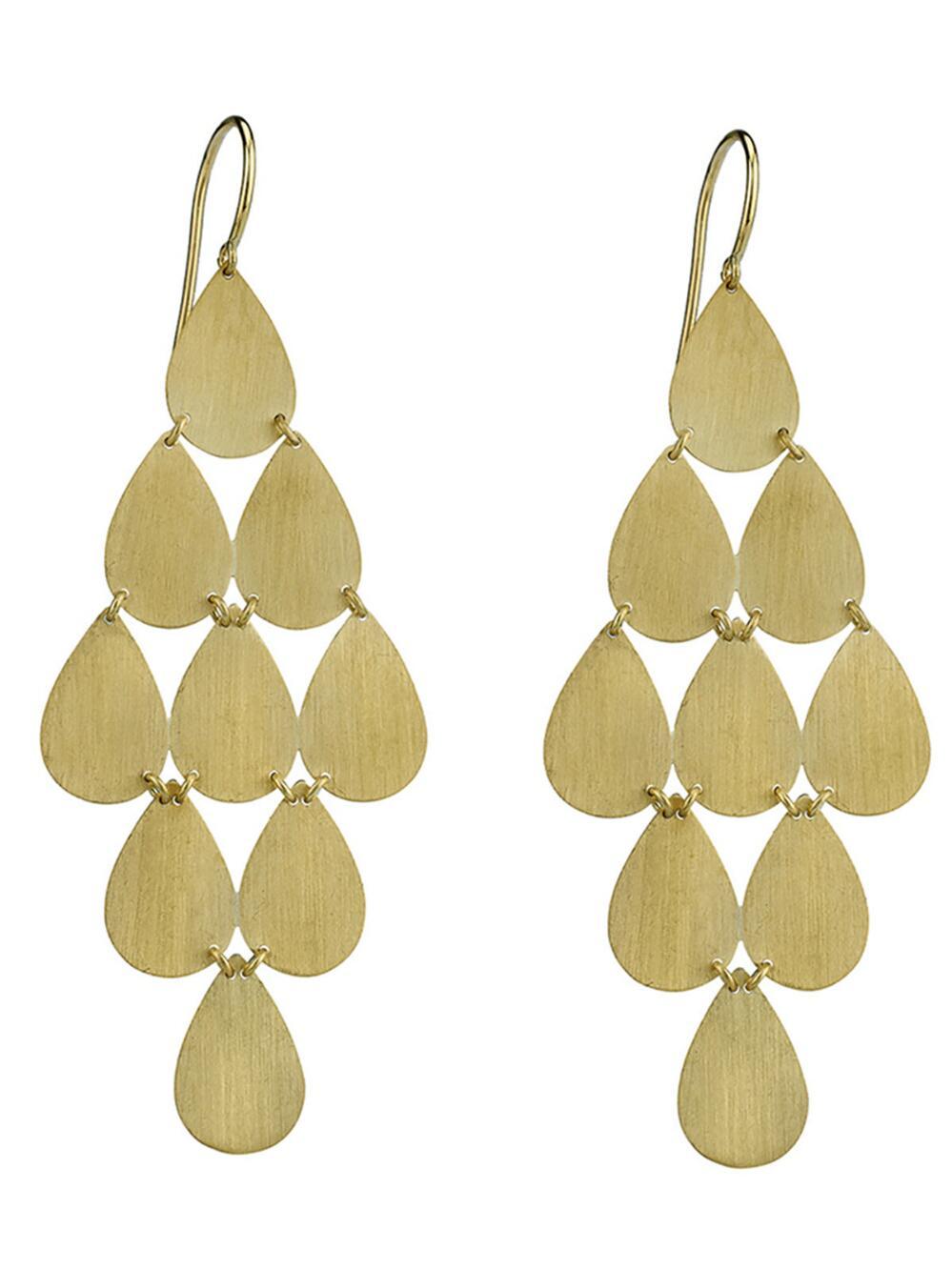 Irene Neuwirth Women S Metallic Signature Large Teardrop Chandelier Earrings