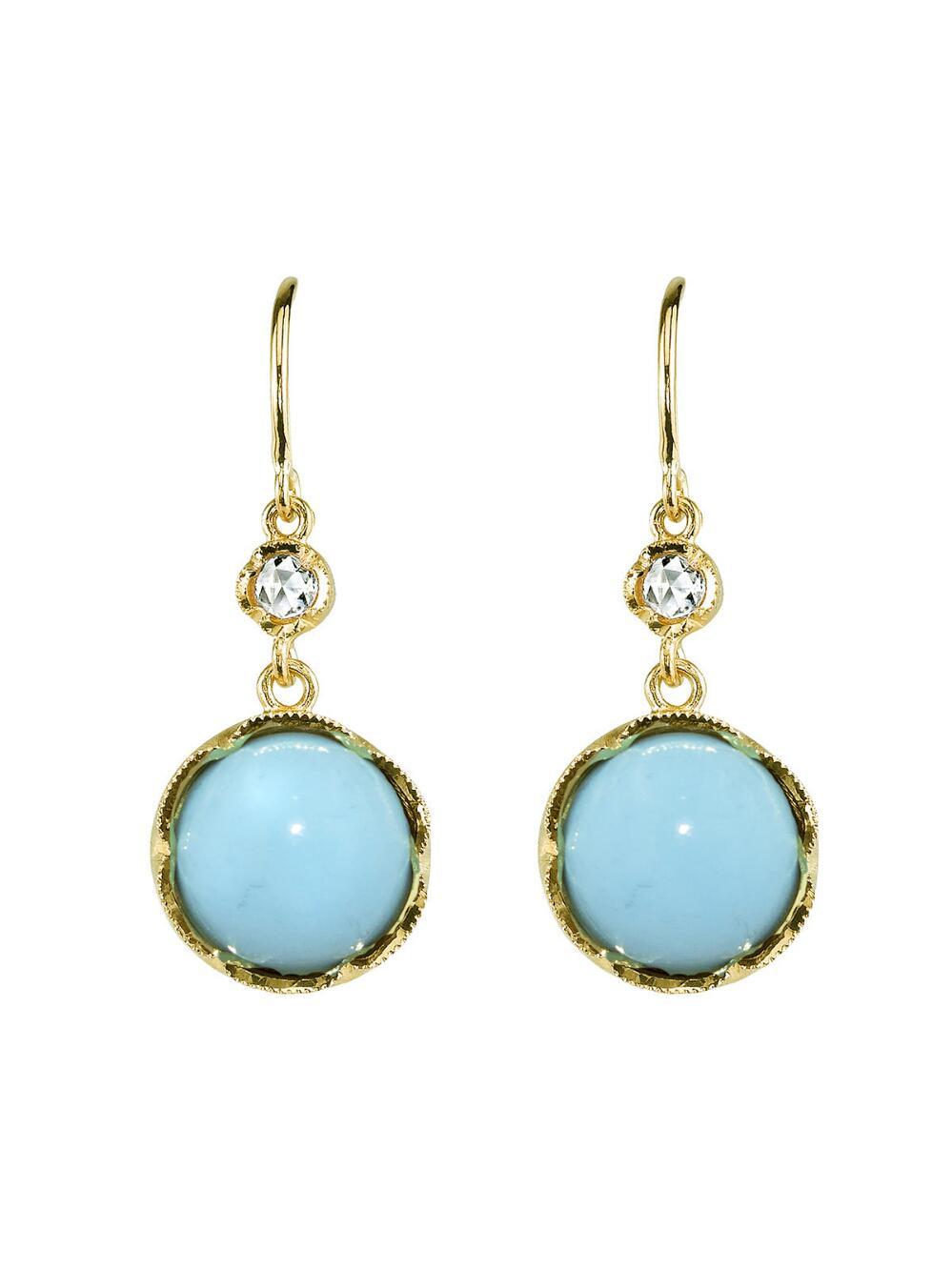 Irene Neuwirth turquoise stud earrings - Blue EpOcnv6
