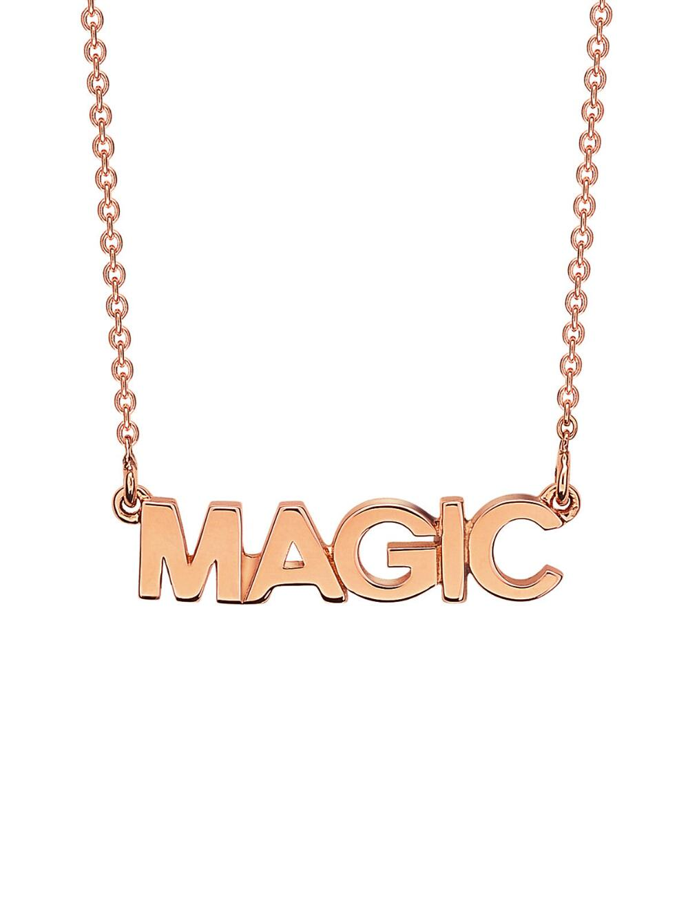 Ginette NY Fairy Revolution Necklace in 18K Rose Gold F9D9Q