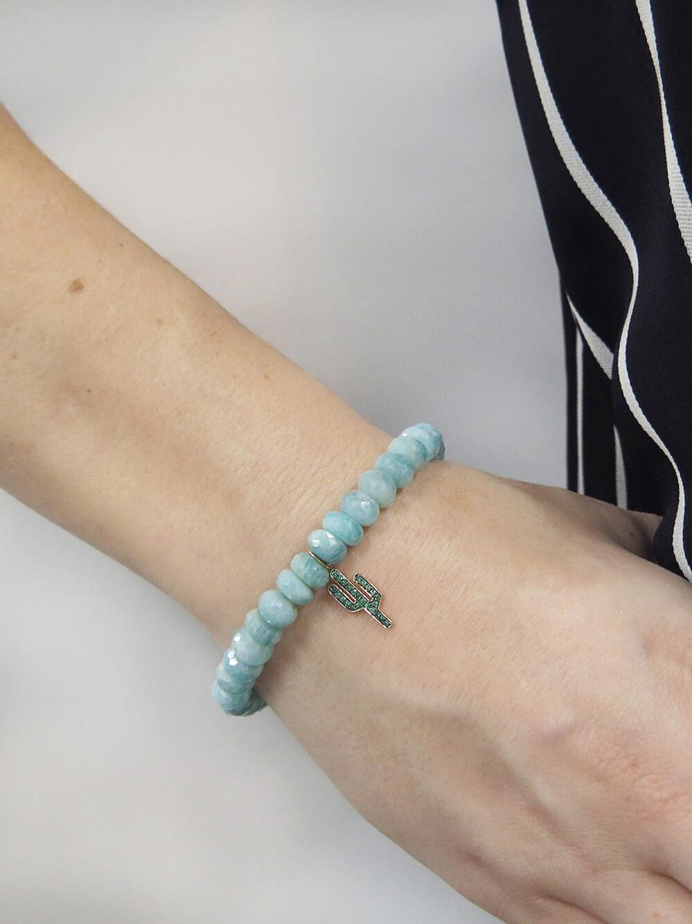 Sydney Evan 14k Amazonite & Elephant Bracelet dTDiZ7