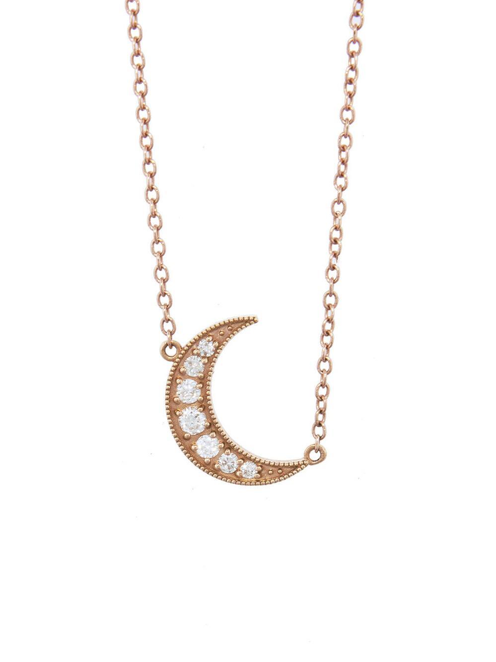 Celestial Crescent Enamel Necklace Andrea Fohrman Du00X