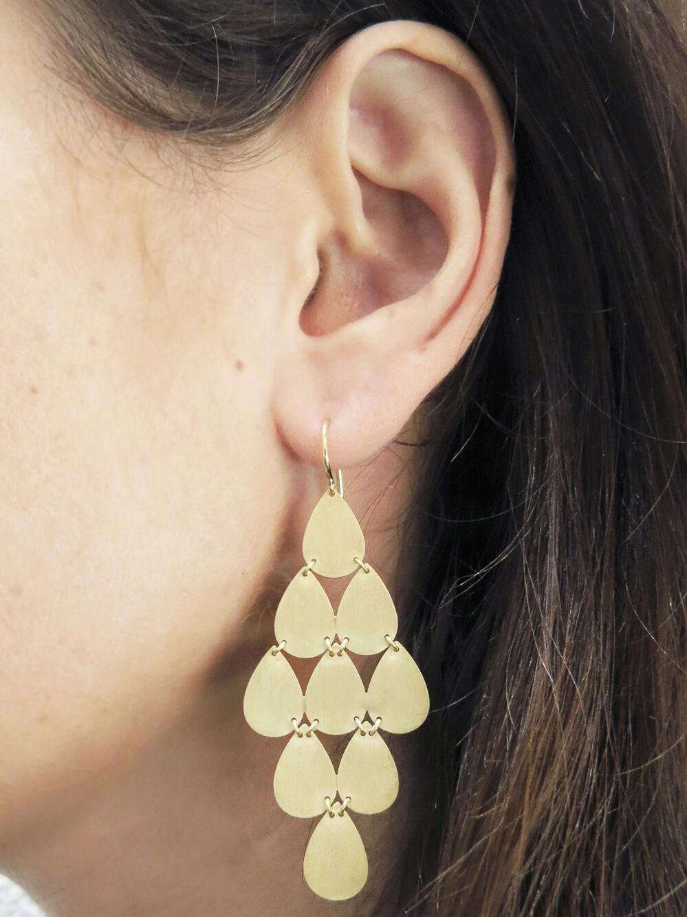 Large Teardrop Chandelier Earrings Lyst View Fullscreen
