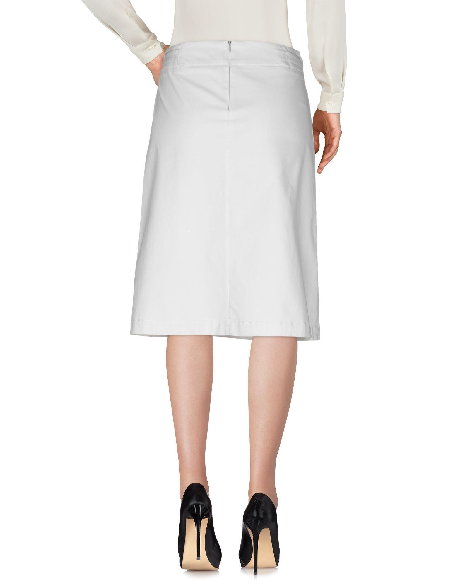 Jupe au genou Cappellini By Peserico en coloris Blanc