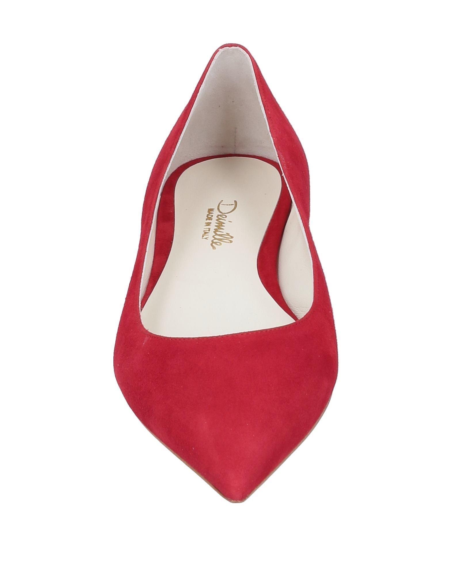 Bailarinas Deimille de Cuero de color Rojo