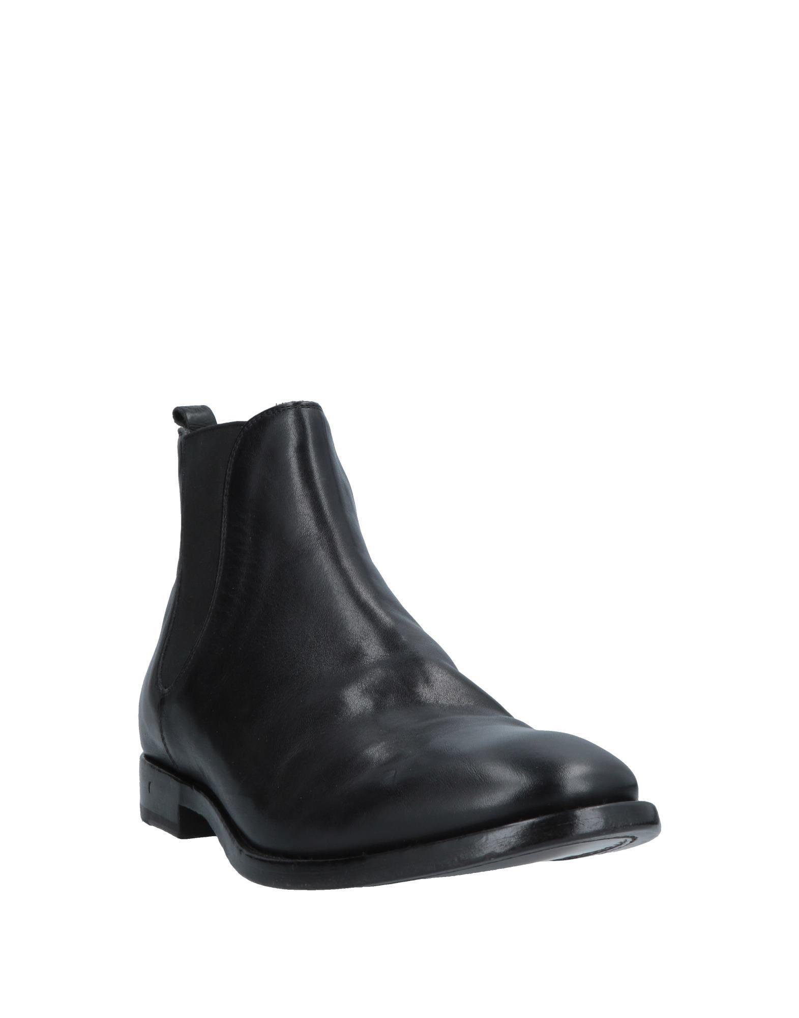 Botines de caña alta Buttero de Cuero de color Negro para hombre
