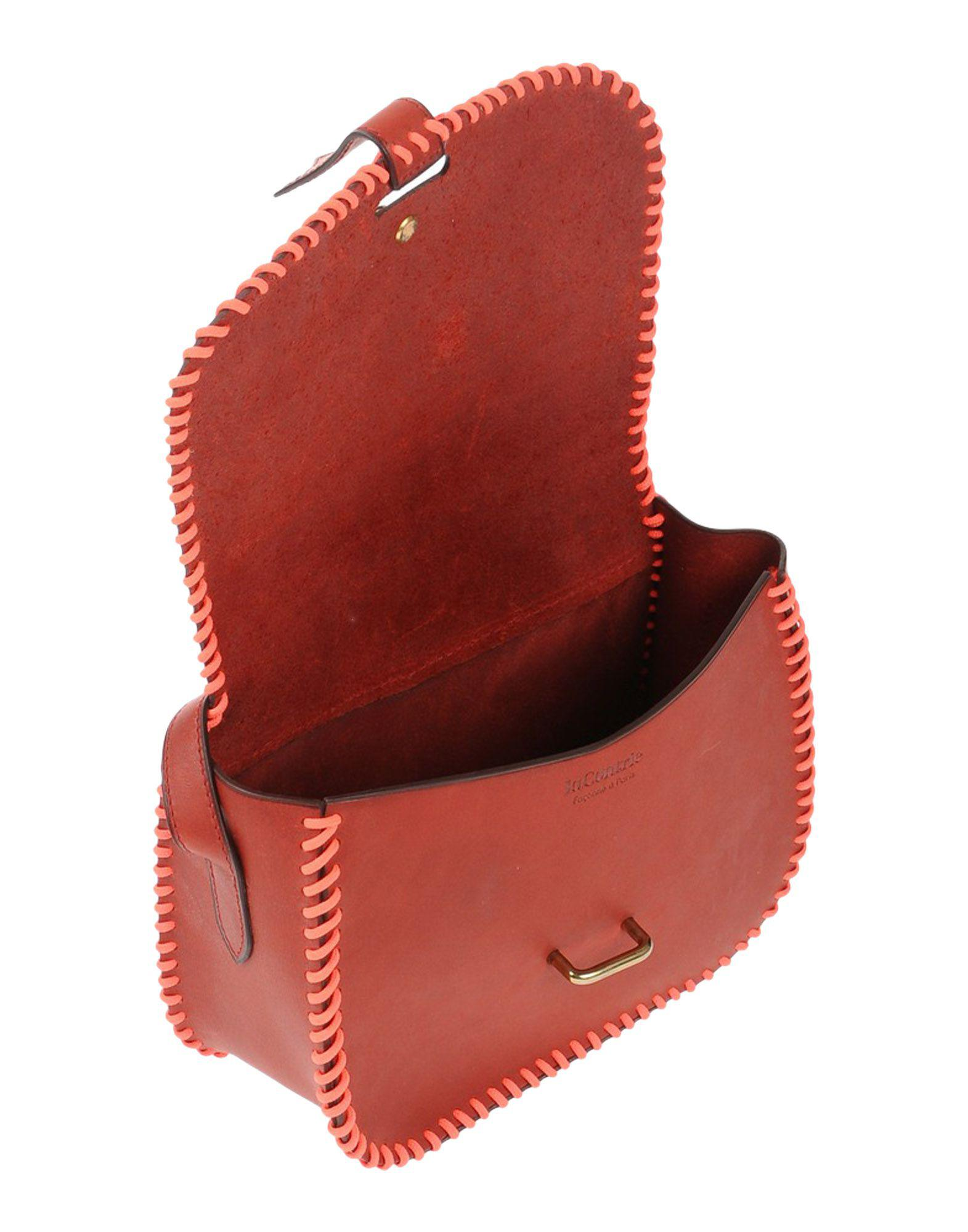 Lacontrie Leather Cross-body Bag in Brick Red (Red)