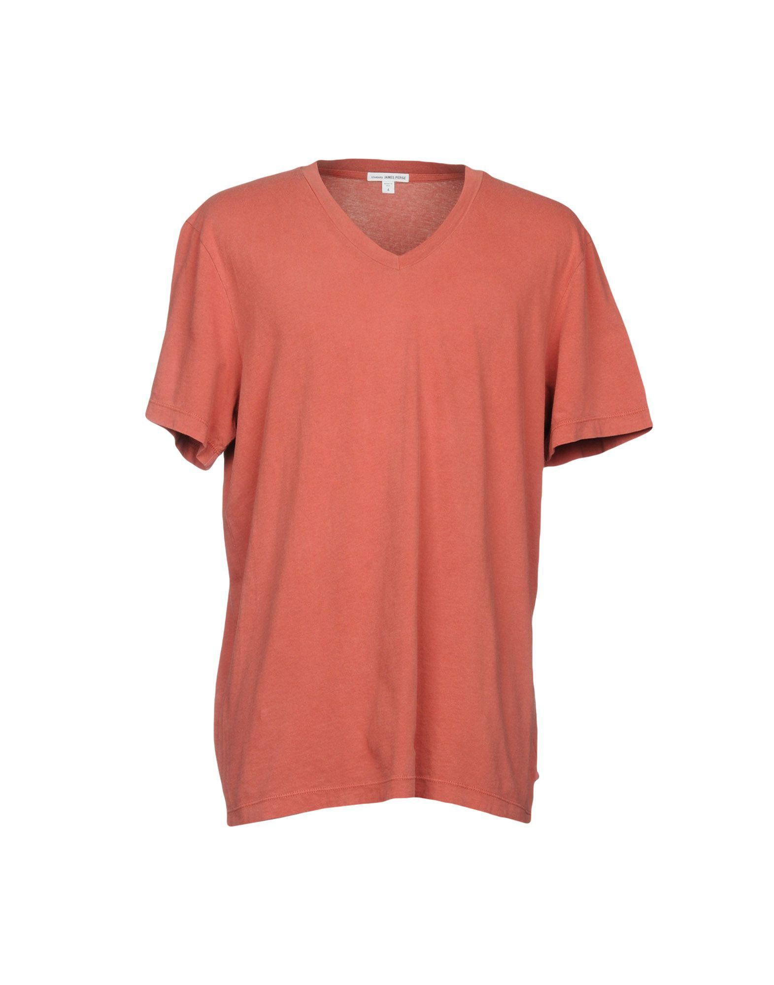 Lyst james perse t shirts in red for men for James perse t shirts sale