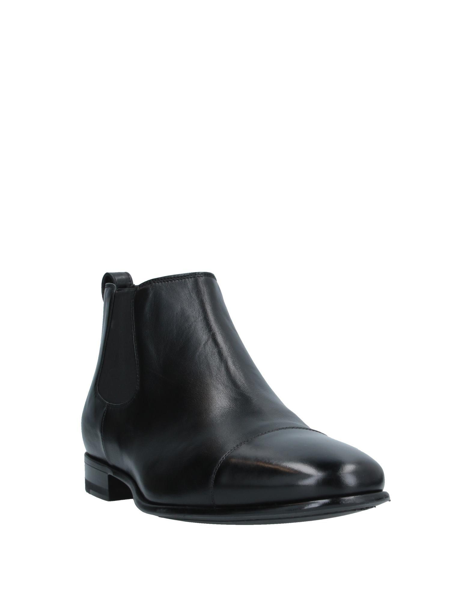 Botines de caña alta A.Testoni de Cuero de color Negro para hombre
