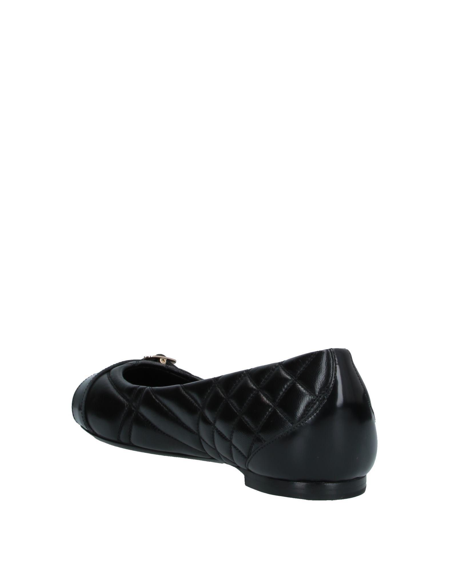 Bailarinas Burberry de Cuero de color Negro