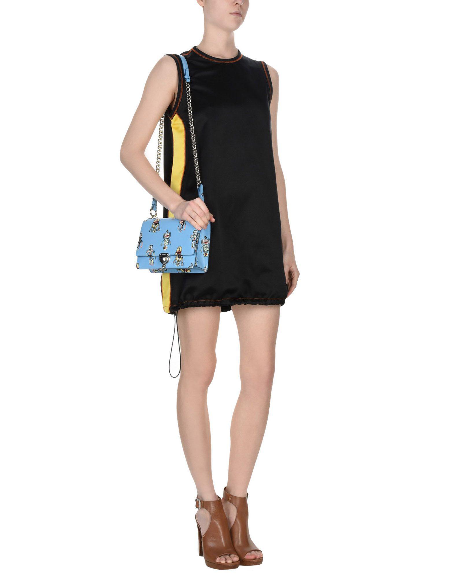Prada Leather Cross-body Bag in Sky Blue (Blue)