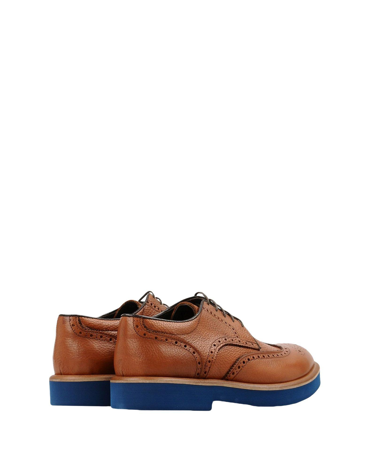 8 Leather Lace-up Shoes in Tan (Brown) for Men