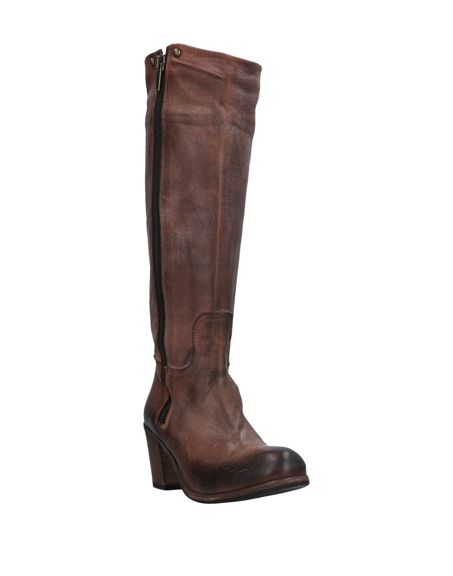 Kobra Leather Boots in Brown