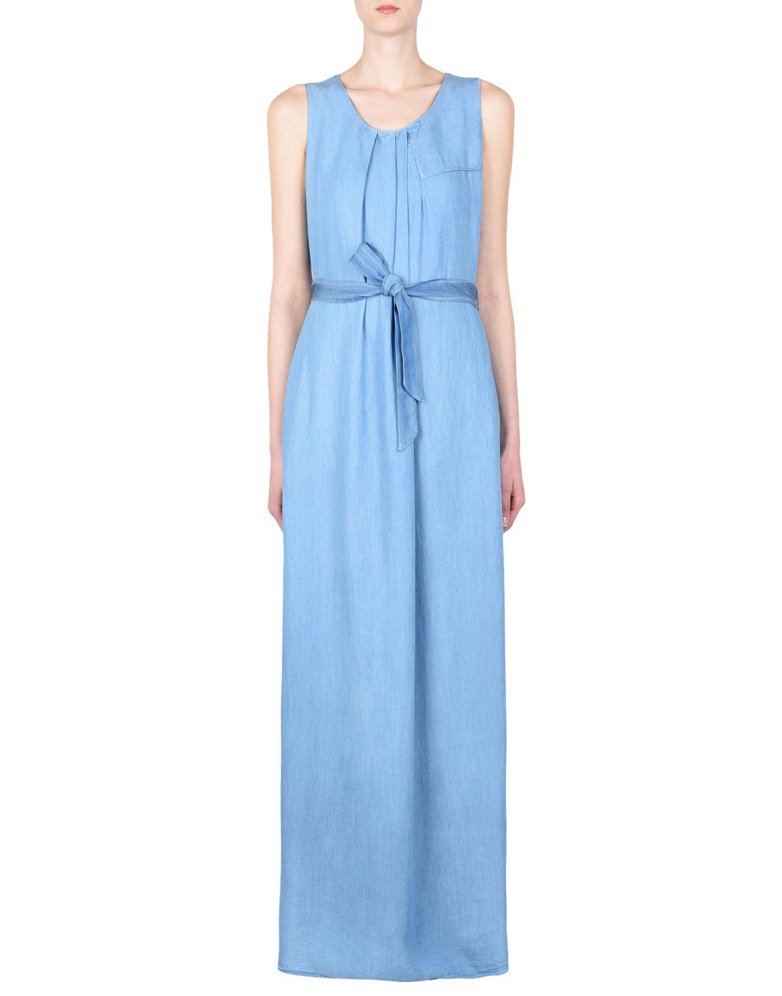 967af83814f Lyst - Robe longue Armani Jeans en coloris Bleu