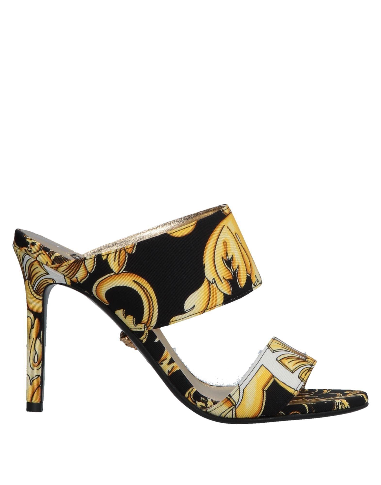 Lyst - Sandales à Talons Chaussures Femme Versace en coloris Noir ... ef67aec5ad4