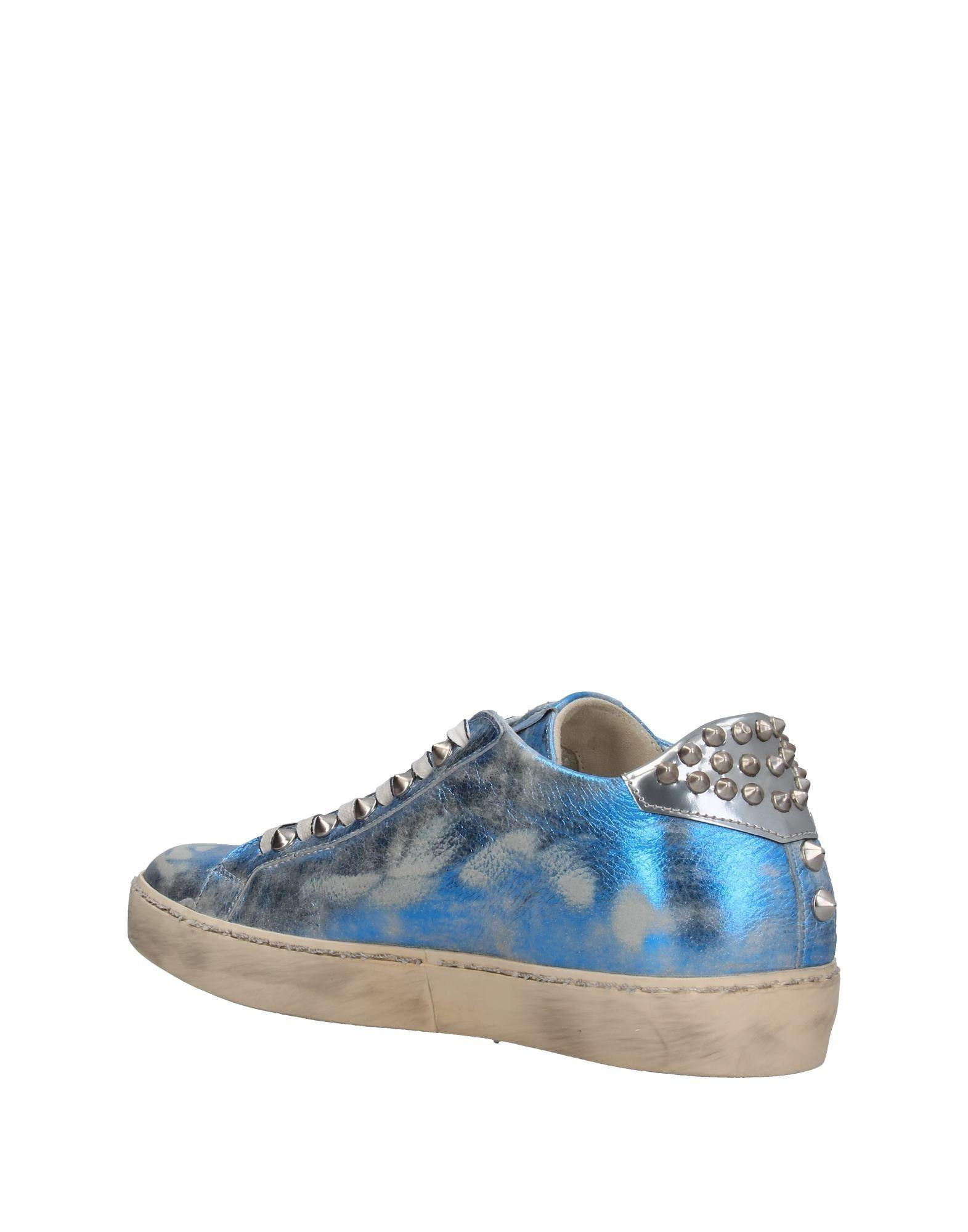 Leather Crown Rubber Low-tops & Sneakers in Blue