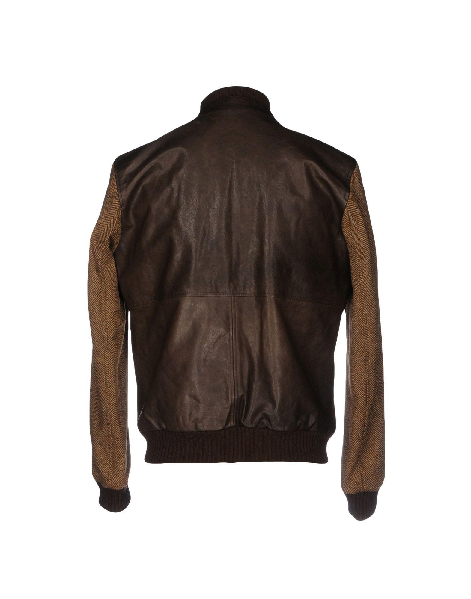 Harmont & Blaine Flannel Jackets in Dark Brown (Brown) for Men