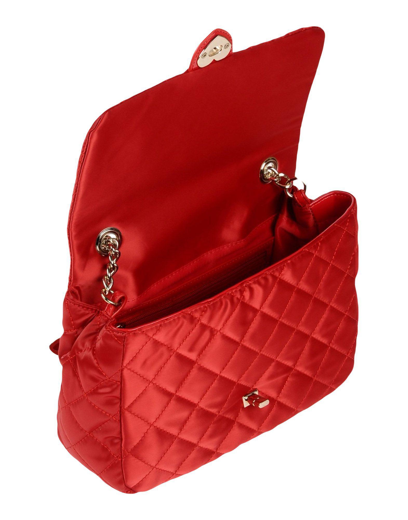 Tosca Blu Satin Cross-body Bag in Red