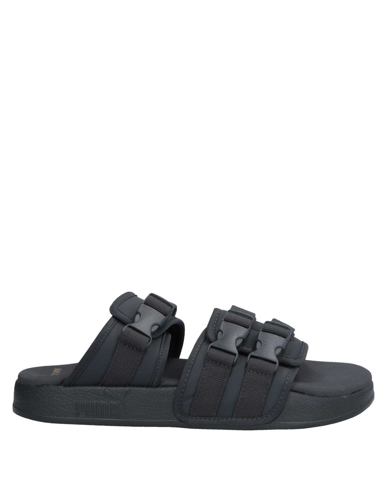 PUMA Rubber Sandals in Lead (Black) for