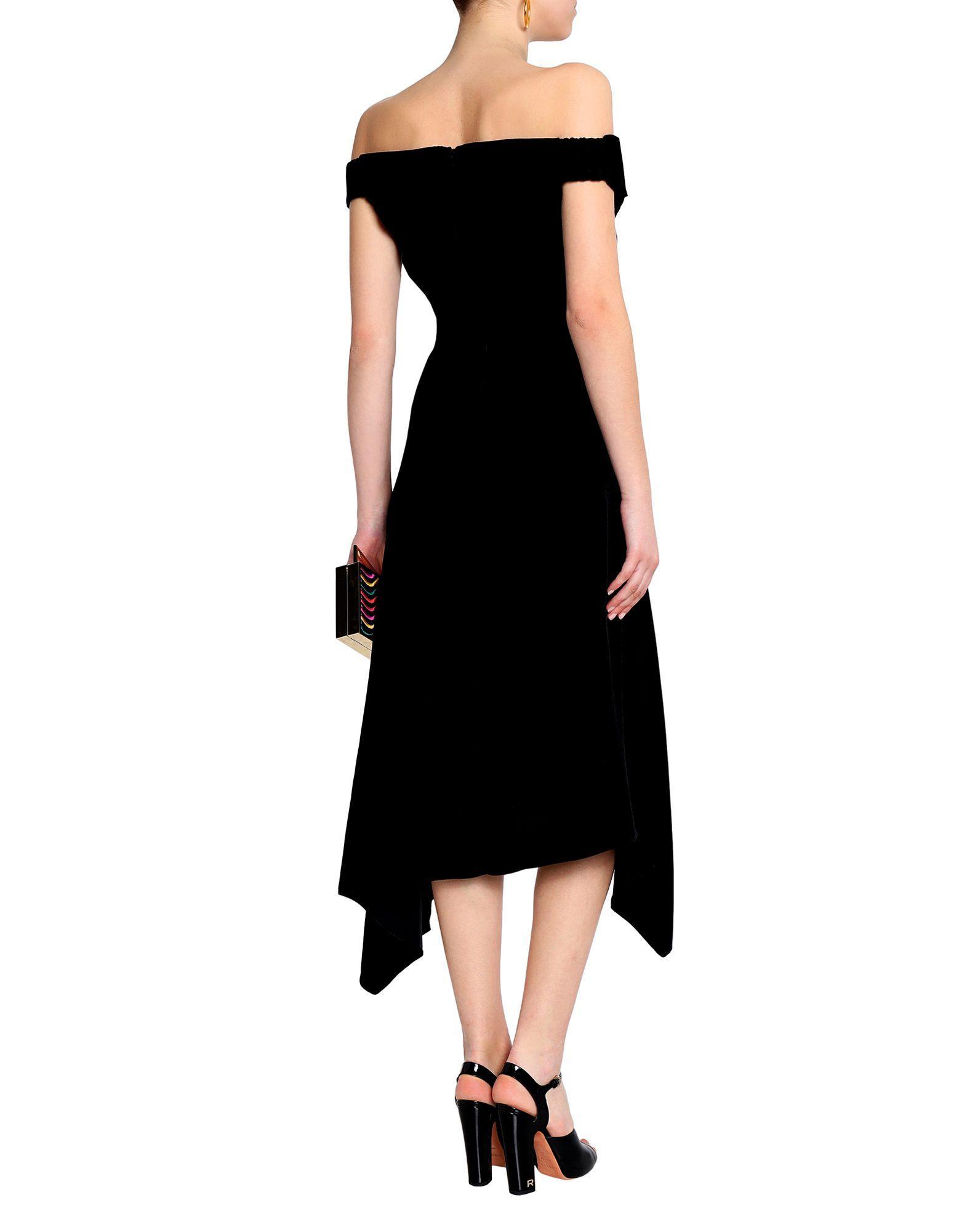 Robe courte Velours Peter Pilotto en coloris Noir