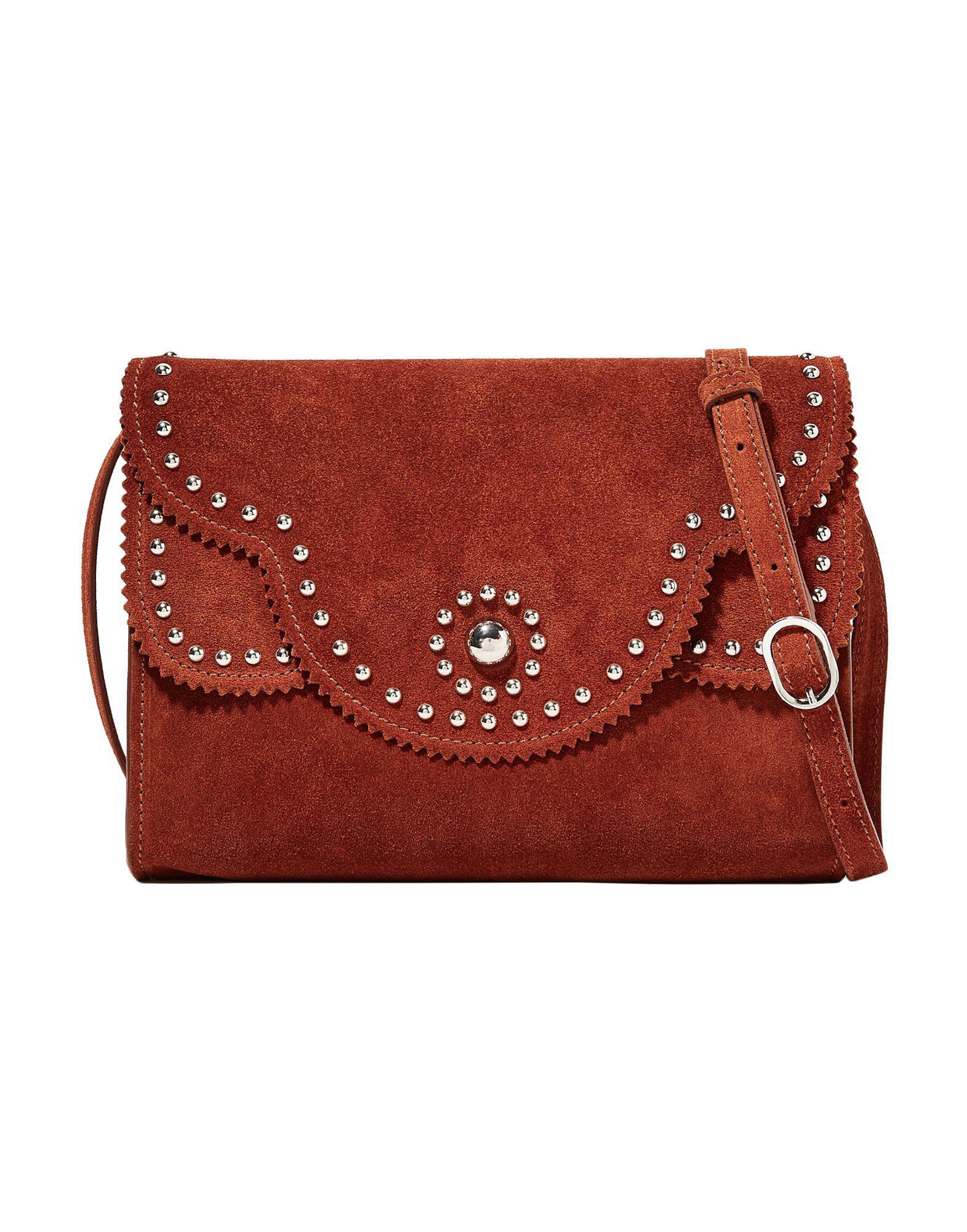 3c2dfabce154 Sandro Cross-body Bag in Brown - Lyst