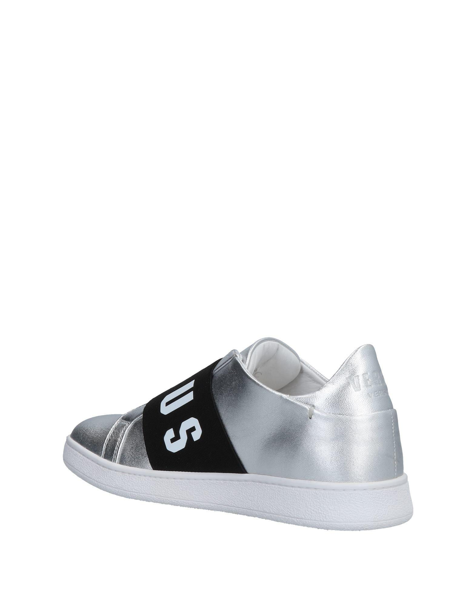 Versus Leather Low-tops & Sneakers in Silver (Metallic)