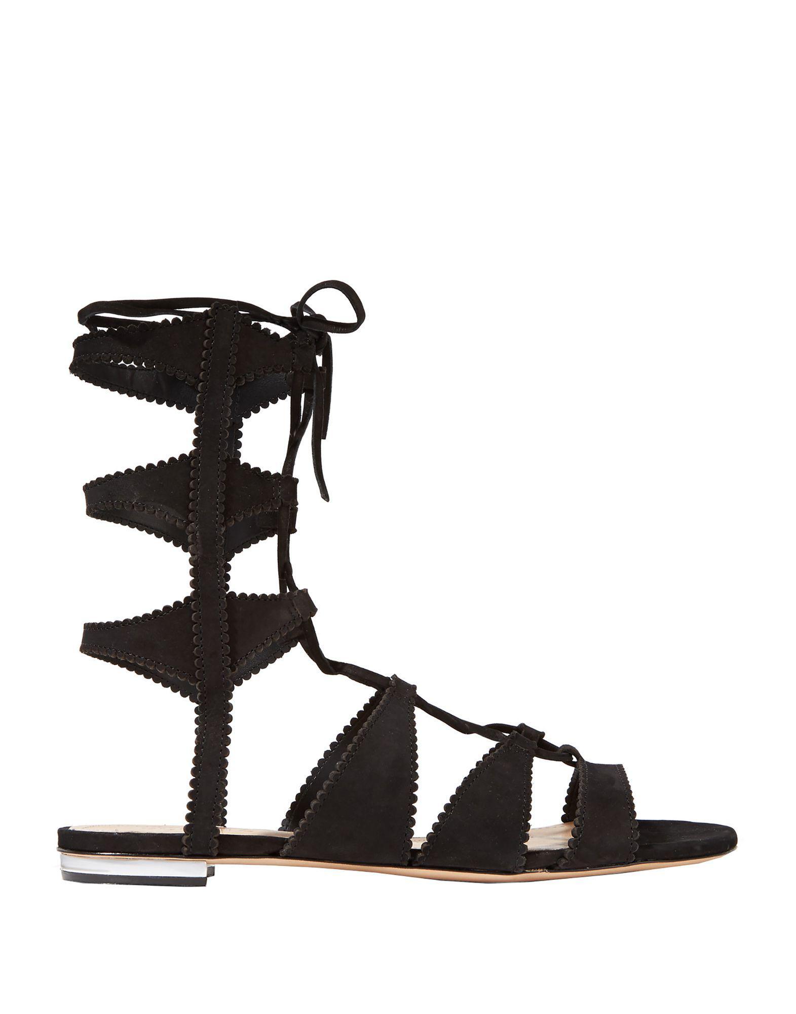 bc03cd0394ac Schutz - Metallic Erlina Suede Gladiator Sandals - Lyst. View fullscreen