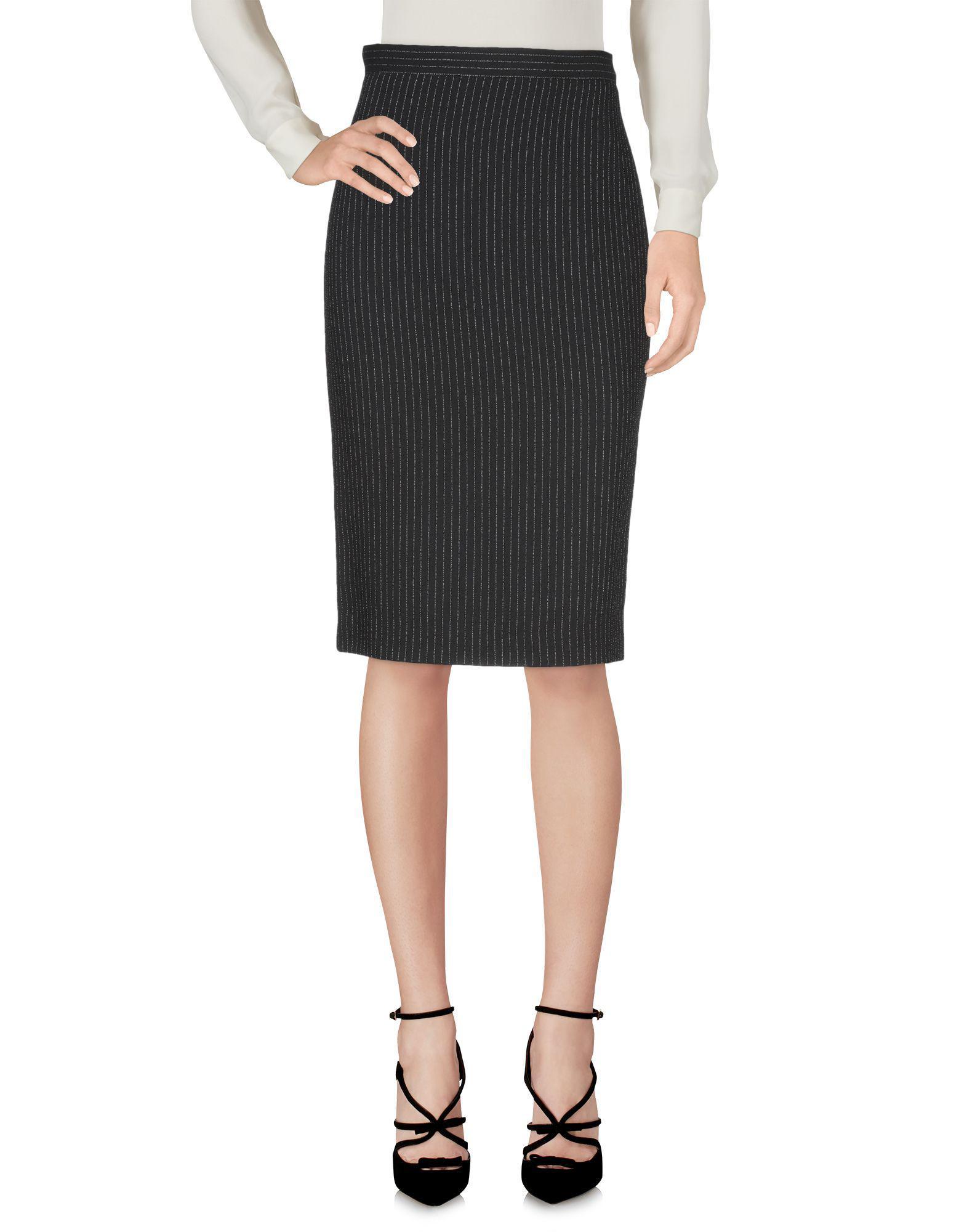6ddd888347 Boutique Moschino - Black Knee Length Skirt - Lyst. View fullscreen
